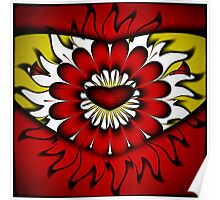 Flower, Heart and Sun Poster