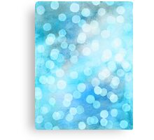 Turquoise Snowstorm - Abstract Watercolor Dots Canvas Print