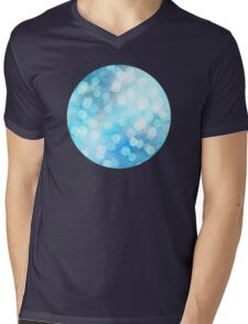 Turquoise Snowstorm - Abstract Watercolor Dots Mens V-Neck T-Shirt