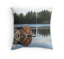 Ye Olde Wheel Throw Pillow