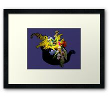 Visitor in the herb garden Framed Print