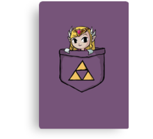 Pocket Zelda Canvas Print