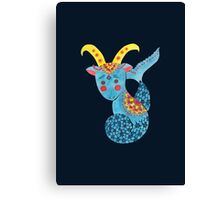 Blue Capricorn Canvas Print