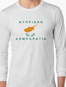 flag of cyprus Long Sleeve T-Shirt