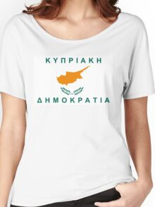 flag of cyprus Women's Relaxed Fit T-Shirt