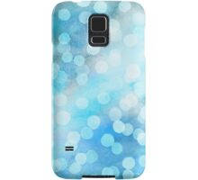 Turquoise Snowstorm - Abstract Watercolor Dots Samsung Galaxy Case/Skin