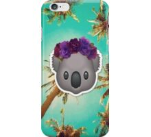 Koala in a Flower Crown Emoji Design iPhone Case/Skin