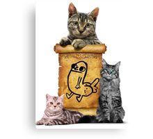 Dickbutt and catz Canvas Print