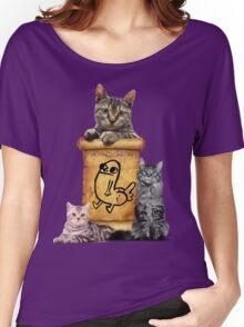 Dickbutt and catz Women's Relaxed Fit T-Shirt