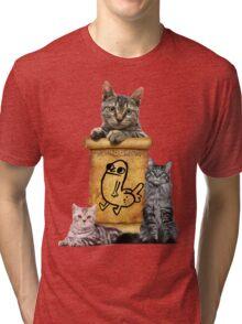 Dickbutt and catz Tri-blend T-Shirt