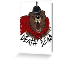 Death Bear Greeting Card