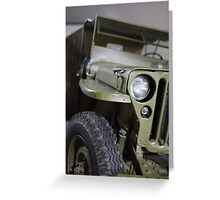 military jeep Greeting Card