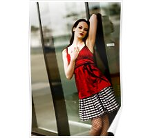 Anne Duffy Fashion Red Top Poster