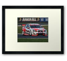 Holden's Garth Tander, Winner of the Phillip Island V8 SuperCar Race 2008 Framed Print
