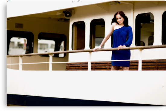 Anne Duffy Fashion Blue Dress by Tony Lin