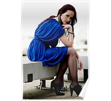 Anne Duffy Fashion Shoot Other Blue Dress Poster