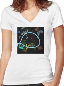 cool sketch 11 Women's Fitted V-Neck T-Shirt