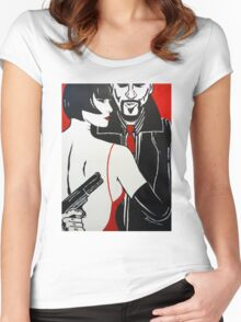 The Gangsters Moll II Women's Fitted Scoop T-Shirt