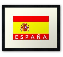 flag of Spain Framed Print