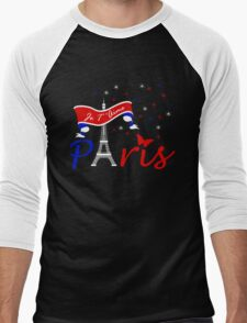 Paris Je T'Aime Men's Baseball ¾ T-Shirt