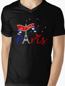 Paris Je T'Aime Mens V-Neck T-Shirt