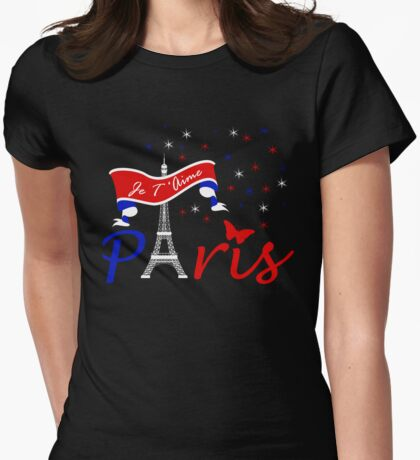 Paris Je T'Aime Womens Fitted T-Shirt