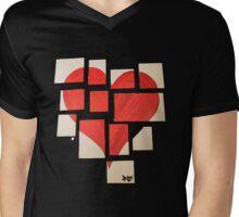 Della's Heart Mens V-Neck T-Shirt