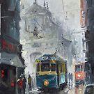 Prague Old Tram 04 by Yuriy Shevchuk