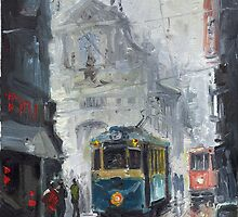 Prague Old Tram 04 by Yuriy Shevchuk