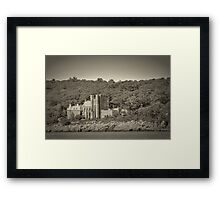 Famous Hammond castle in black and white Framed Print