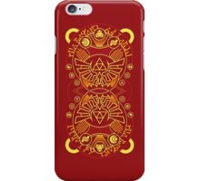 Card Back 3 - Hylian Court Legend of Zelda iPhone Case/Skin