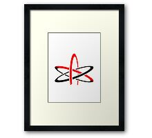 Never trust an atom They make up everything Framed Print