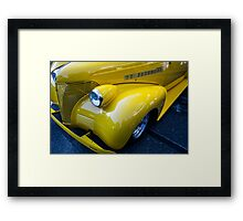 Yellow 1939 Chevrolet Tudor Framed Print