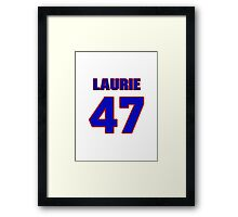 National football player Laurie Niemi jersey 47 Framed Print