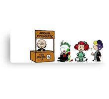 Batman Peanuts Canvas Print