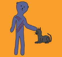 Trouble Teddy, don't pat the cat. by bigshot