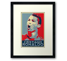 """Cristiano Ronaldo Portrait inspired by the Barack Obama """"Hope"""" poster designed by Shepard Fairey. Framed Print"""