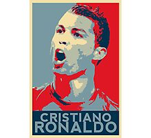 """Cristiano Ronaldo Portrait inspired by the Barack Obama """"Hope"""" poster designed by Shepard Fairey. Photographic Print"""