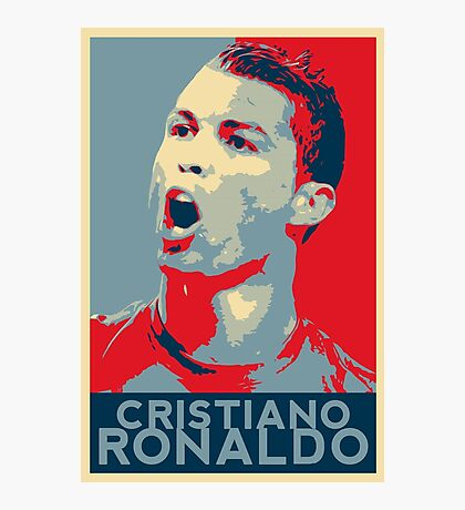 "Cristiano Ronaldo Portrait inspired by the Barack Obama ""Hope"" poster designed by Shepard Fairey. Photographic Print"