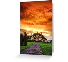 Happy Halloween Castle  Greeting Card
