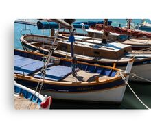 Fishing boats, Cassis, French Riviera Canvas Print