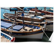 Fishing boats, Cassis, French Riviera Poster