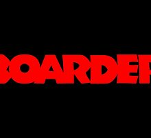 Boarder (Red) by theshirtshops
