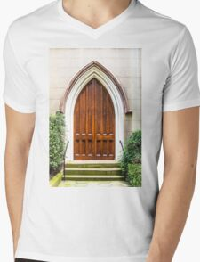 Arched Doorway in Church Mens V-Neck T-Shirt