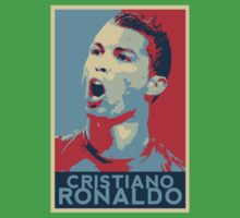 """Cristiano Ronaldo Portrait inspired by the Barack Obama """"Hope"""" poster designed by Shepard Fairey. Kids Tee"""