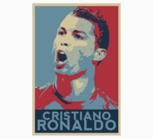 "Cristiano Ronaldo Portrait inspired by the Barack Obama ""Hope"" poster designed by Shepard Fairey. Baby Tee"