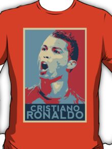 "Cristiano Ronaldo Portrait inspired by the Barack Obama ""Hope"" poster designed by Shepard Fairey. T-Shirt"