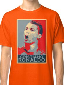 "Cristiano Ronaldo Portrait inspired by the Barack Obama ""Hope"" poster designed by Shepard Fairey. Classic T-Shirt"