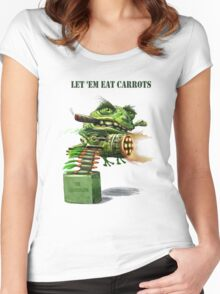 Lettem Eat Carrots text T Women's Fitted Scoop T-Shirt