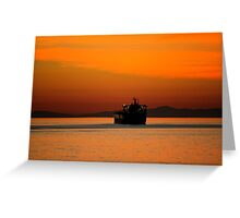 Diving in the sunset Greeting Card